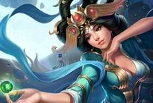 Chang'e │Faerie of the Moon / Not always born in the crucible of creation, sometimes Gods ascend by tragic happenstance. Such is the tale of Chang'e, Goddess of the Moon.  / by SMITE: The Game