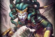 Medusa │The Gorgon / All monsters are hideous and fearful, but some are worse than others. There is only one whose hair is made of slithering serpents, only one with skin of scales, and only one whose very gaze can turn man, beast, or God to stone. Medusa, the Gorgon. / by SMITE: The Game