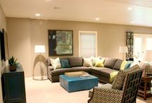 PORTFOLIO - Lower level in gray, lime green and teal