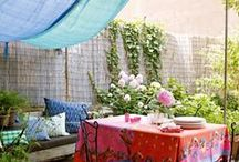 Backyard & Patio / Elaborate and simple. Elegant and rustic. Lush and arid. Your backyard can be has lavish or as basic as you choose. Here are a wide variety of ideas to inspire you.