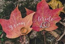 """Beautiful Fall Wedding Inspirations / The colors of fall are a perfect backdrop for a breathtaking wedding. This board is inspired by all that is - fall * autumn * love * weddings * creativity * color.   """"Delicious autumn! My very soul is wedded to it..."""" -George Eliot"""