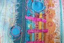 fiber: stitches: layers / by Leigh Lindahl