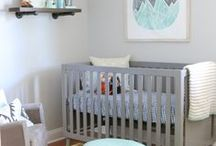 Sea and sun gender neutral nursery / Ocean blue and sunny yellow are offset against soft greys and whites, playful prints and bold graphics combine - create the perfect space for baby!