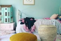 Pink, mint and gold girls room / Gorgeous shades of pink and mint look extra special when accessorised with flashes of gold. The perfect colour scheme to grow with your girl from tweens to teens and beyond.  Play up the pretty pastels or mix mint with monochrome for a little more sophistication, either way this is a great look for teen bedrooms, dorm rooms or younger girls rooms.