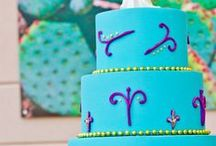 Colors - Turquoise / Turquoise blue color inspiration - from cakes to dresses to table decoration.