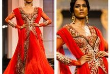 Colors - Red / Reds, mauves, burgundies, a tribute to the bold and beautiful color red. / by The Big Fat Indian Wedding®