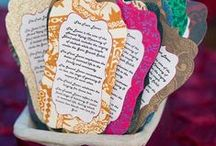 Wedding Invitations / From classic to modern and geometric to paisleys, wedding invites set the tone of a wedding.