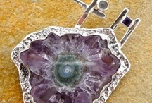 Stone silver pendants '12 / Silver Pendants from Stone by Shelly Birch