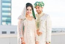 Beautiful Muslim Brides / These lovely brides wear anything from white wedding dresses to ornate shararas.  From Pakistan to Indonesia to Saudi Arabia, these Muslim wedding brides are stylish, classic, and beautiful.