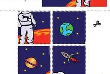 Space rocket mania / fun preschool ideas about Space rockets for boys