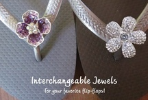 M*Jewels for Flip-Flops / M*Jewels for Flip-Flops are interchangeable jewels that can easily be clipped onto your favorite flip-flops!