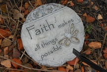 Countdown Stones / 1 FAITH stone = 1 pound dropped already. Visualization of weight loss goal.