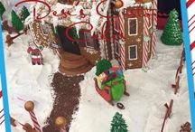 Gingerbread houses from Desis custom Cakes / Amazing Gingerbread houses we've made  / by Desi Richards