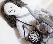 TEXTILE DOLL / textile dolls, art doll, nursery, stuffed toy