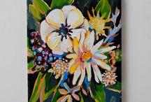 Malba: květiny