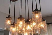 Light Fixtures + Ceiling Fans / Light Fixtures, Interior Design, Home Decor, Rustic, Farmhouse