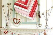 Valentine Decor / Valentine decor, anniversary decor, hearts, love, pink, red