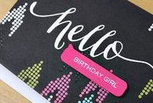 Wplus9 Birthday Inspiration / Ideas for cards and crafts using Wplus9 stamps and supplies for birthdays.