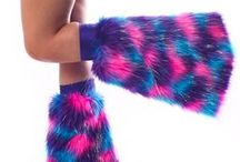 Fluffies / Fluffy leg warmers! #rave #edm #edc #fluffies #party #dance
