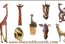 Giraffes at The Crabby Nook / The Giraffe is our most popular safari animal decor.  It is easy to add a grown up touch of exotic animal decor from our collection / by The Crabby Nook