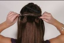 Applying your clip in hair / Here are some lovely photos, that illustrate applying your clip in hair extensions.