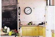 Kitchen Design / Kitchen decor, interior design, home styling, kitchen decorating, farmhouse, rustic, eclectic