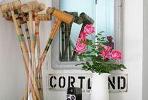 Vignettes / Decorating style, interior design, home styling, vignette design
