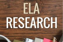 ELA Research / Pins to help teach middle/high school research skills or standards.