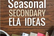 Seasonal Secondary ELA! / Pin timely teaching materials for middle and high school that are SPECIFIC to a month, holiday, or season of the year. Maximum 3 pins per day, and please honor the board's theme and do NOT just post general, all-year content! :-)   This board is not currently accepting new pinners, BUT you can email me to be included the next time this board opens: tptsara (at) gmail (dot) com.