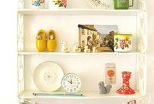 Shelves + Shelf Styling / Shelf styling, Shelves, Rustic, Vintage, Home Decor, Interior Design, Decorating ideas