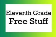 Eleventh Grade Free Stuff / Free teaching ideas, worksheets and fun classroom activities for eleventh grade students. / by Brian Crawford