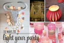 Lighting for Your Party / No special decor needed, just a little mood lighting to get your party going! / by The Chic Site (Rachel Hollis)