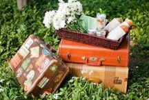 THIS NOW | vintage suitcases / Decor, weddings, parties you name it... there a million things you can do with a vintage suitcase!  / by Rachel Hollis