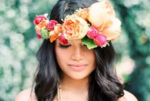 Floral Hair Wreaths / {My Bellissima - NY & NJ Wedding Planning and Special Events Design} www.mybellissima.com