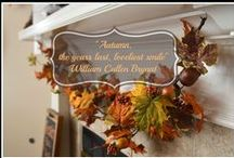 Holidays|Fall decorating / Decor to bring in fall color and a little Halloween fun