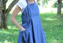 Denim Aprons / Lightweight denim provides you with a great working fabric that is light to wear and comfortable all day long. Beat the crap out of it and it will keep up with you.