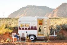 Tiny Trailer Remodel / Vintage trailers, small spaces, tiny homes. Inspiration for remodeling a mobile home, motor home,  or vintage trailer.