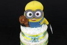 Minion pelenkatorta - Minion diaper cakes - Minion nappy cakes