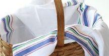 Dish towels / Flour sack dish towels and Vintage Stripes Towels