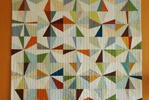 Quilts- geometric (and sewing projects) / quilts and quilt ideas, I like the geometric traditional patterns mostly (more than the free-form) / by Jennifer Turk