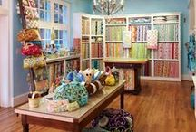 I want this craft room!! / by Nellie Fitzgibbon Bee Sew Happy Boutique