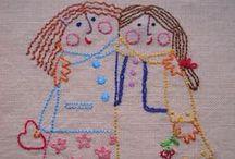 Embroidery / Ricami di vario tipo