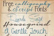 Font / tipi di scrittura e alfabeti