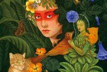 Fantasy, Fairies and Mythology / Spiritual Art inspired by fantasy, fairies, and mythology... / by Pomegranate Communications, Publisher