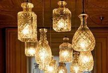 Lampade & c. / lampade di vario tipo anche con materiali di recupero