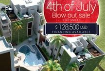 AWA Condos: 4th Of July Blow Out Sale / Awa is a new complex of Playa del Carmen condos, just 3 miles north of town.  It is located in the exclusive, closed-gated community called El Cielo.