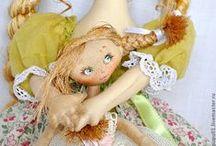 Puppets and dolls / Bambole e pupazzi di pezza e non, idee e tutorial