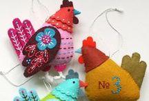 Creative sewing with felt, wool and cloth / Cucito creativo con feltro, lana e panno