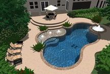 Backyard pool ideas / by Nellie Fitzgibbon Bee Sew Happy Boutique