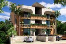 Edén Zamá / Residential condominium with 6 modern condos built with natural materials, large terraces and reverance for its natural surrounding. It is located in the exclusive residential area Aldea Zamá.